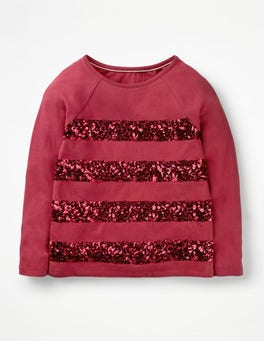 Bramble Red Sequin Stripe T-shirt