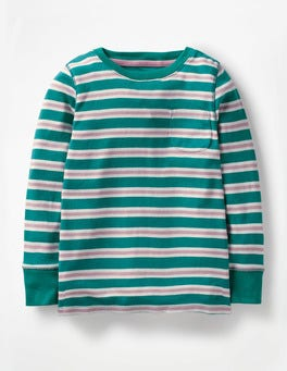 Drake Green/Pink Everyday Stripe T-shirt
