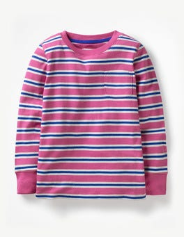 Tickled Pink/Blue Everyday Stripe T-shirt