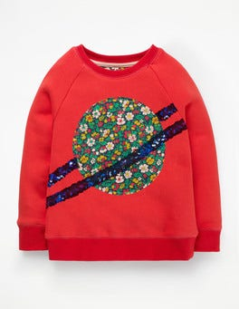 Poppy Red Planet Fun Novelty Sweatshirt