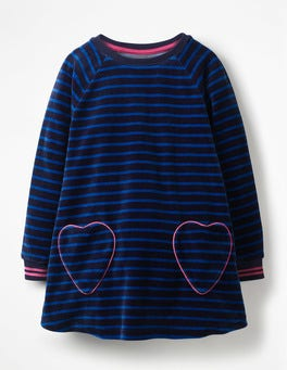 Velour Heart Pocket Tunic