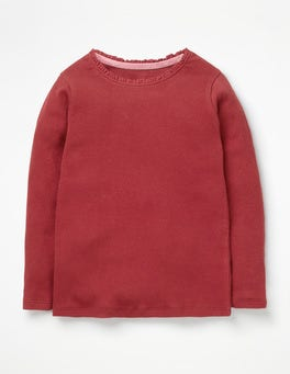 Bramble Red Pretty Rib T-shirt