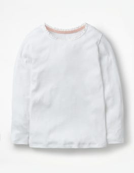 White Pretty Rib T-shirt