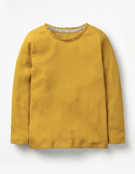 Golden Glow Yellow Pretty Rib T-shirt