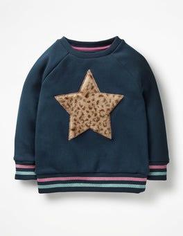Fluffy Graphic Sweatshirt