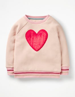Tutu Pink Heart Fluffy Graphic Sweatshirt