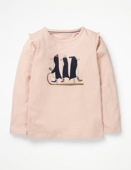 Tutu Pink Penguins Party Graphic T-shirt
