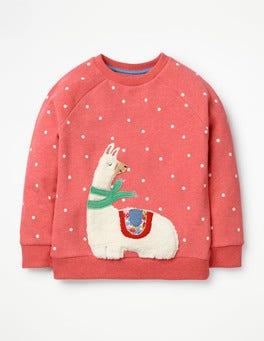 Rosette Pink Llama Fluffy Friends Sweatshirt