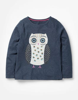 Navy Owl Forest Friends T-Shirt