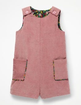 Vintage Pink Chunky Cord Playsuit