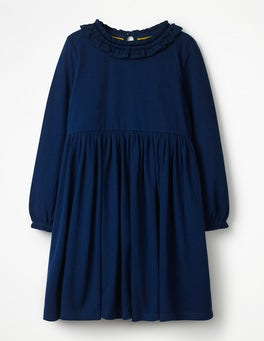 School Navy Supersoft Jersey Ruffle Dress