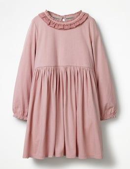 Vintage Pink Supersoft Jersey Ruffle Dress