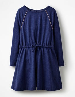 Tie-waist Jersey Swing Dress
