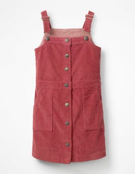 Bramble Red Jumbo Cord Pinafore Dress