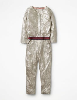 Metallic Silver Party Jumpsuit