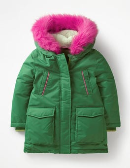 Willow Green Cosy Waterproof Coat