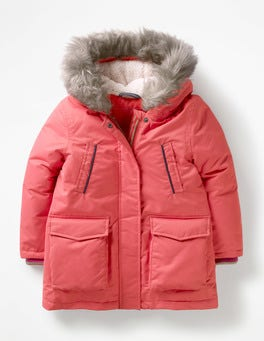 Rosette Pink Cosy Waterproof Coat