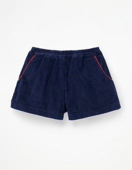Navy Chunky Cord Shorts