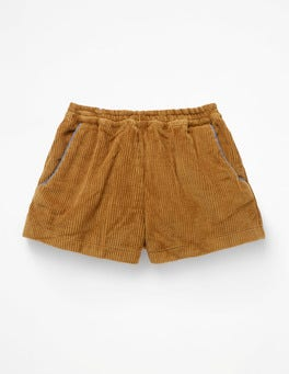 Golden Glow Yellow Chunky Cord Shorts