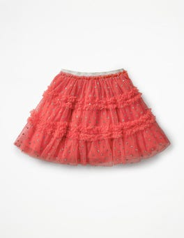 Rosette Pink Party Tulle Skirt