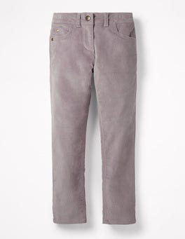 Lavender Grey Velvet Party Pants