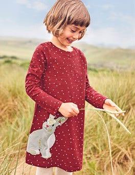 Spotty Animal Appliqué Dress