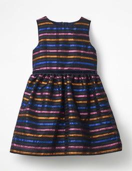 Lurex Multistripe Lurex Organza Stripe Dress