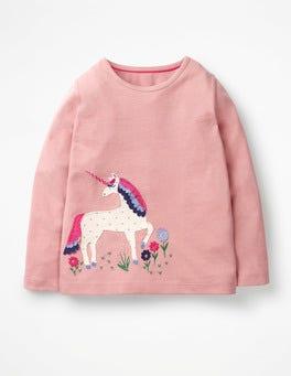 Vintage Pink Unicorn Unicorn Flutter T-shirt