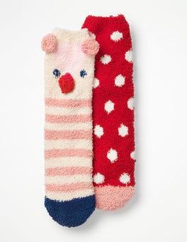 2 Pack Fluffy Socks