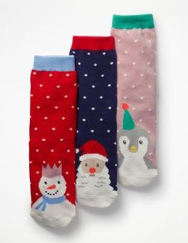 3 Pack Festive Socks