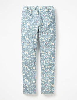 Boathouse Blue Woodblock Cord Leggings