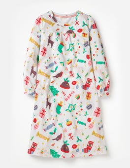 Ivory Festive Fun Printed Nightie