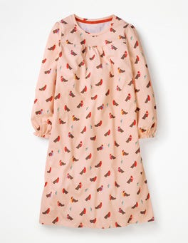 Provence Dusty Pink Robins Printed Nightie