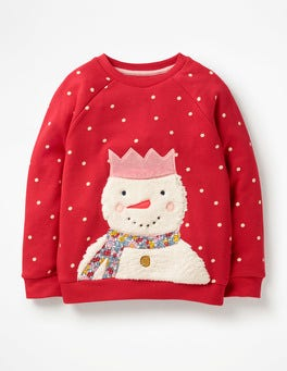 Polish Red Snowman Fluffy Friends Sweatshirt