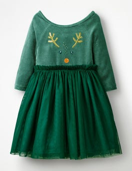 Drake Green Reindeer Velvet Novelty Dress
