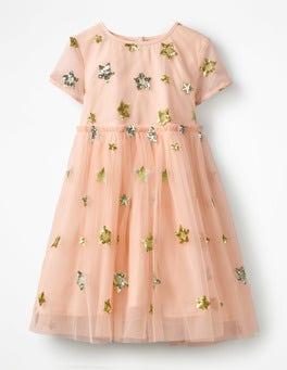 Tutu Pink/Stars Sequin Star Tulle Dress