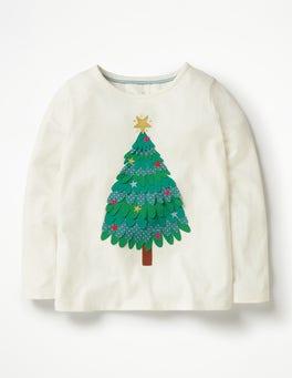 Ecru Tree Festive Flutter T-shirt