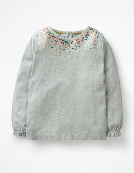 Grey Marl Twinkly Jersey Top