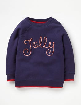 Prussian Blue Jolly Festive Fun Sweatshirt