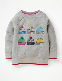 Grey Marl Hats Festive Fun Sweatshirt