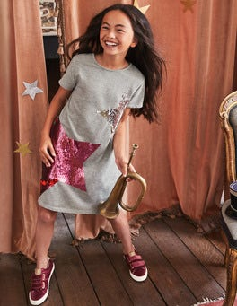Colour-change Sequin Tee Dress