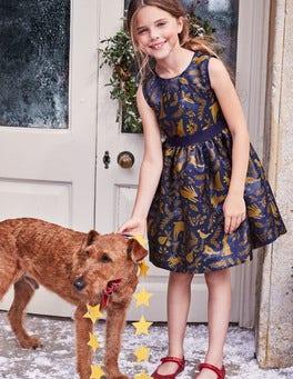 Festive Jacquard Dress