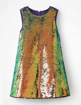 Iridescent Multi Sequins Super Sequin Dress