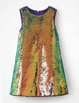 Mehrfarbig schimmernde Pailletten Tolles Paillettenkleid