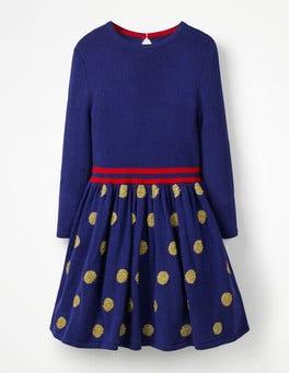 Metallic Spot Knitted Dress