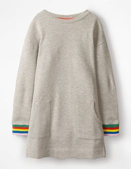 Grey Marl Sweatshirt Dress