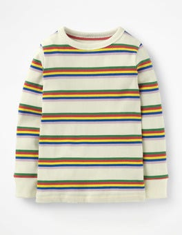 Stripy Ribbed T-shirt
