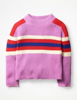 Lilac Pink Colourful Knitted Jumper