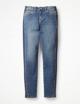 Mid Vintage Contrast Stripe Superstretch Skinny Jeans
