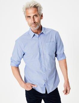 Blue End on End Poplin Shirt